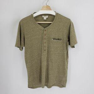DIESEL T-Erato Tri-blend Pocket Green T Shirt